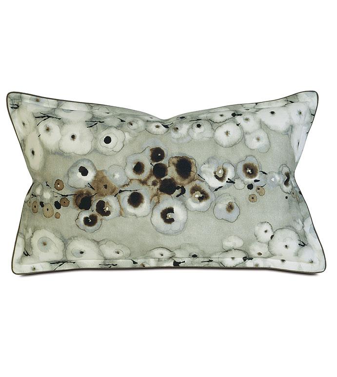 Laurel Spa Boudoir - pillow,throw pillow,printed pillow,floral pillow,rectangle pillow,decorative  pillow,boudoir sham pillow,sham accent pillow,water color pillow,feather pillow,zip closure pillow