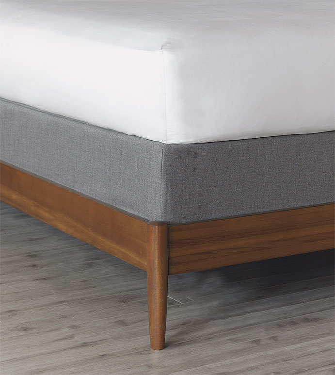 Wicklow Slate Box Spring Cover - BOX SPRING COVER, SOLID WHITE,QUEEN,ELASTIC BAND COVER