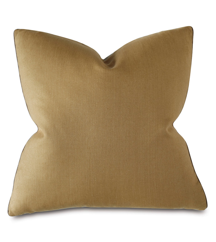 Castle Linen Decorative Pillow In Gold - THOM FILICIA,VELVET,LINEN,DECORATIVE PILLOW,THROW PILLOW,ACCENT PILLOW,PILLOW,YELLOW,GOLD,DESIGNER,SQUARE,LARGE