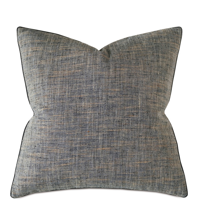 Rowley Woven Decorative Pillow In Charcoal - THROW PILLOW,DECORATIVE PILLOW,ACCENT PILLOW,PILLOW,TEXTURE,TWILL,TWEED,THOM FILICIA,DESIGNER,VELVET,LARGE,SQUARE
