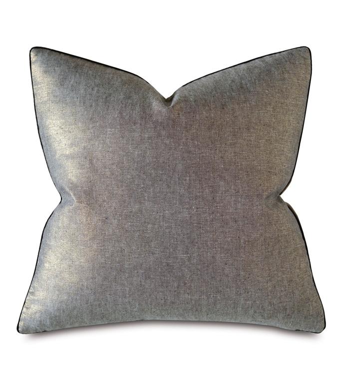 Leonis Linen Decorative Pillow - THOM FILICIA,THROW PILLOW,ACCENT PILLOW,DECORATIVE PILLOW,METALLIC,LINEN,100% LINEN,PILLOW,SLEEK,