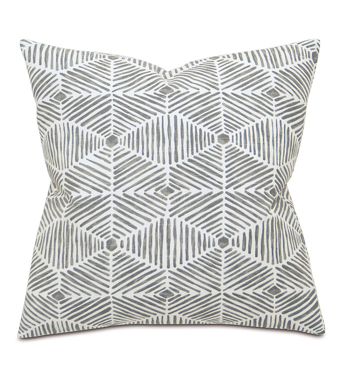 Veldman Slate - PILLOW,GEOMETRIC PILLOW,SQUARE PILLOW,PRINTED ACCENT PILLOW,THROW PILLOW,FEATHER PILLOW,PRINTED PILLOW PATTERN,ZIPPER CLOSURE PILLOW,ACCENT PILLOW,KNIFE EDGE FINISHING