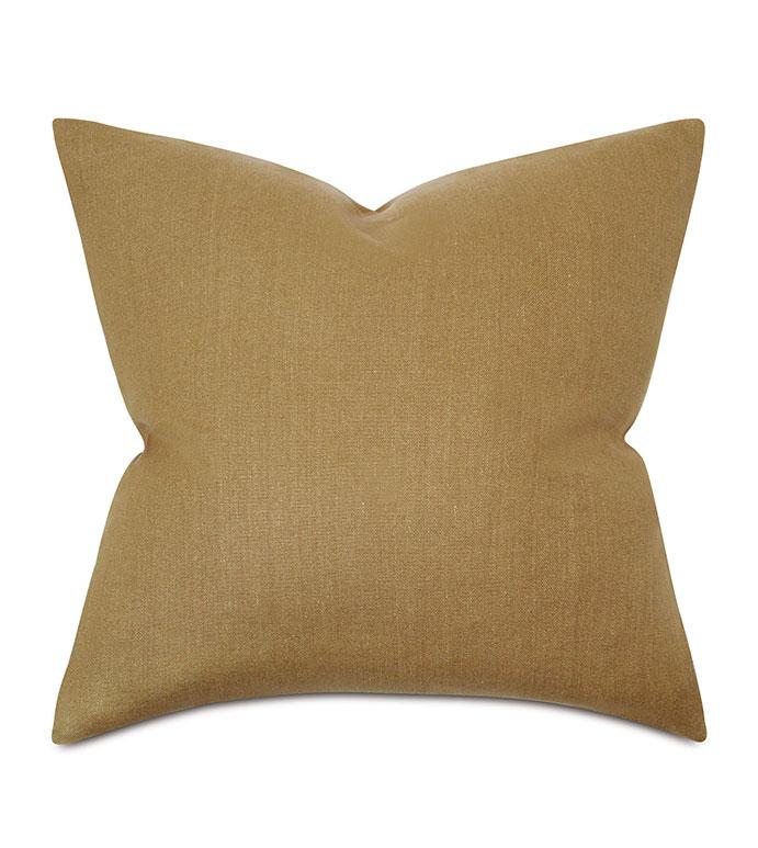 Trillium Solid Euro Sham in Gold - ,yellow, earth, 100% linen, solid,yellow pillow, euro sham,mustard pillow,mustard bedding,casual bedding,rustic bedding,linen duvet,