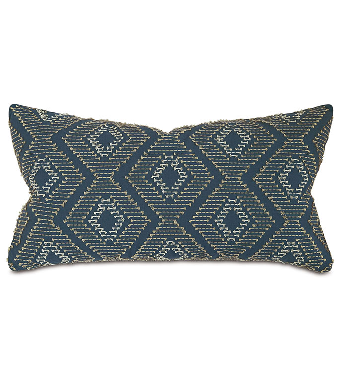 Trillium Diamond Fil Coupe King Sham - ,EMBROIDERY,EARTH TONES,TAUPE,GRAY PILLOW, GOLD, EMBROIDERED PILLOW,DIAMOND EMBROIDERY,FIL COUPE,MUSTARD PULLOW,EARTHY PILLOW,LUXURY BEDDING,