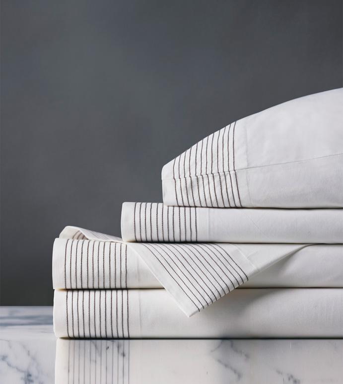 Marsden Dove Sheet Set - sheets,dove sheet set,sheeting,fine linens,bedding,luxury sheets,high-end sheets,high-quality sheets,200 thread count sheets,percale sheets,Egyptian cotton sheets