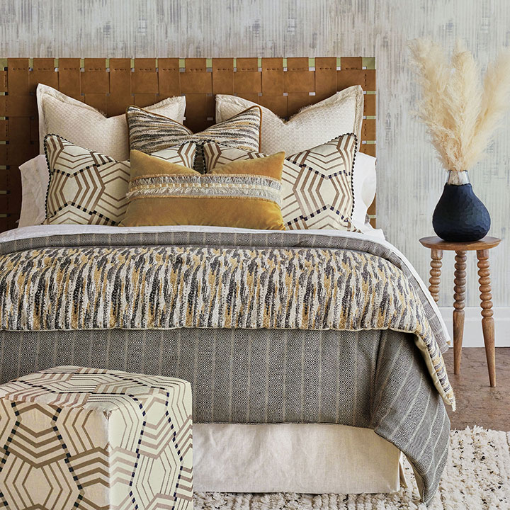 Kimahri - ,desert decor,global decor,global bedding,earth tone bedding,tribal bedding,earth tone textiles,chenille bedding,desert decor,tan bedding,linen bedding,linen bedset,eclectic bedding,