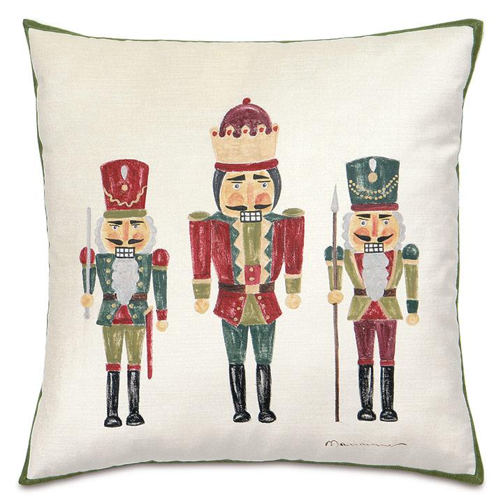 Nutcracker Handpainted Decorative Pillow