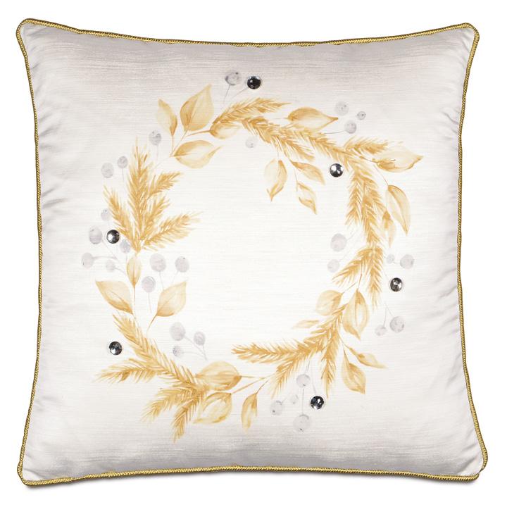 Glisten Handpainted Decorative Pillow