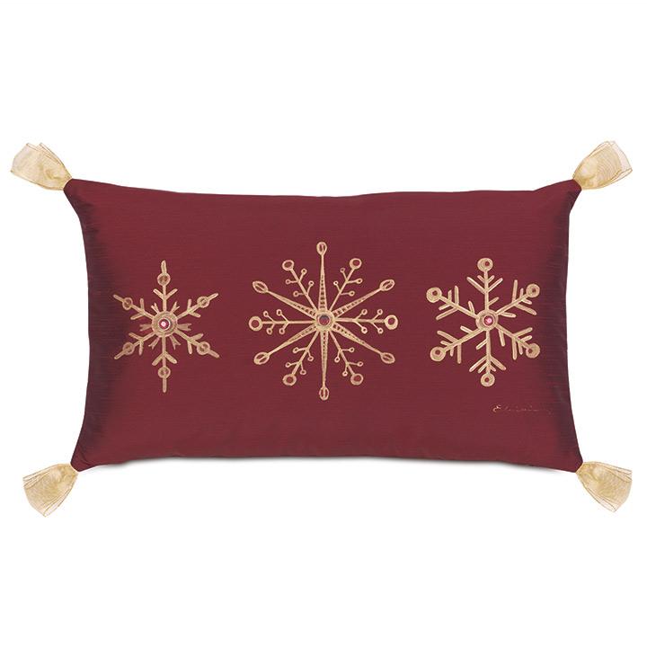 Noel Snowflake Decorative Pillow