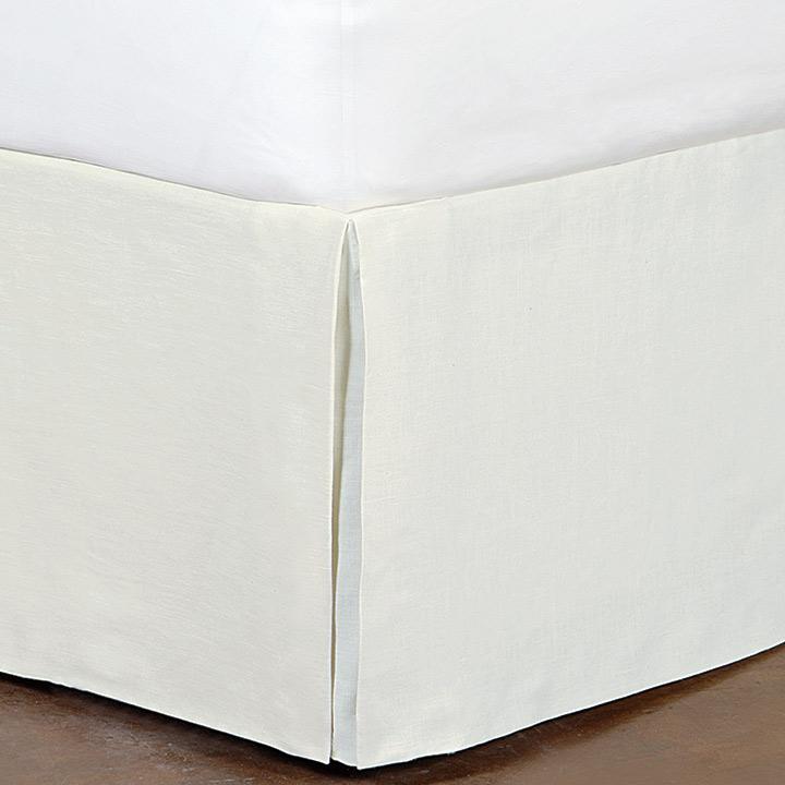 Breeze Linen Bed Skirt In Shell