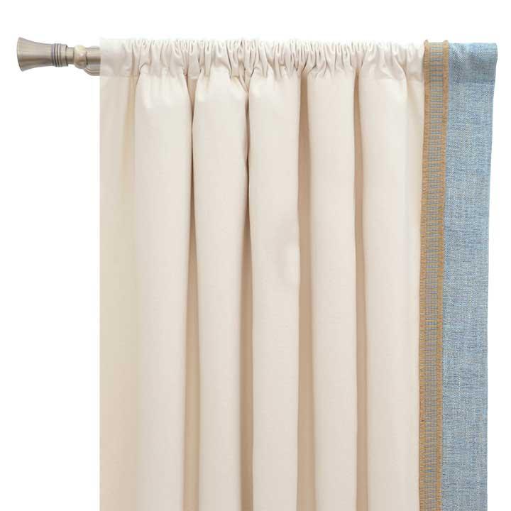 Adler Natural Curtain Panel Left