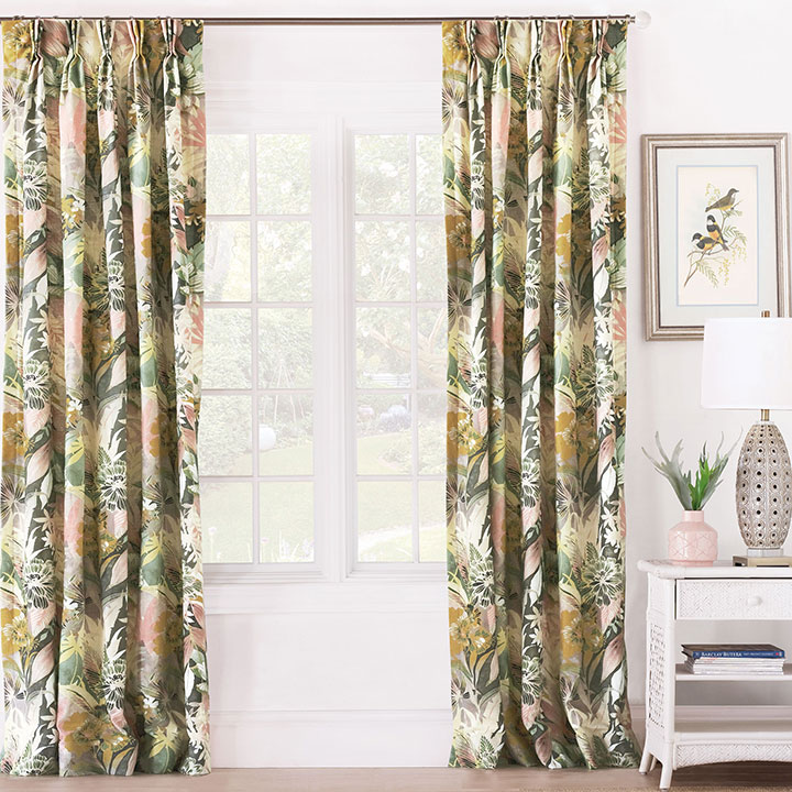 Felicity Floral Curtain Panel
