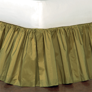 Freda Ruffled Bed Skirt in Chartreuse