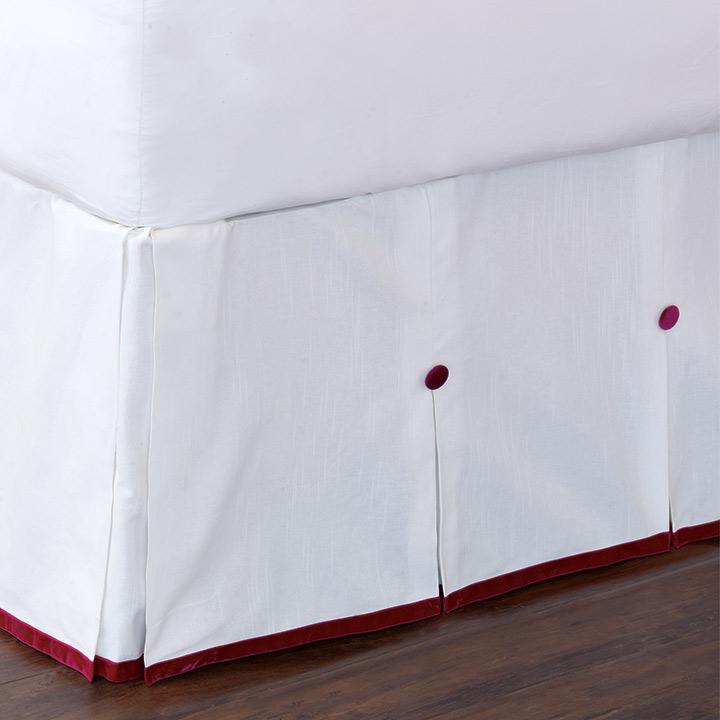 Baldwin White Bed Skirt