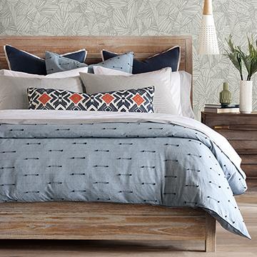 Lodi - ,blue bedding,luxury bedding,embroidered duvet,fil coupe embroidery,blue duvet,chicago textiles,custom bedding,designer bedding,coastal decor,blue decor,embroidery,luxury pillow,