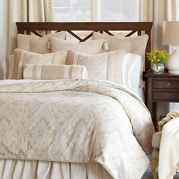 Brookfield - neutral elegant bedding,classic,traditional ivory bedding,ivory and tan,cream,white,beige,sophisticated bedding,ivory brocade bedding,traditional home bedding,southern classic bedding