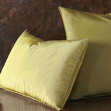 Freda Solid Taffeta - Chartreuse - citron,chartreuse,green,olive,taffeta,shiny,silky,bed skirt,ruffled,euro sham,standard sham,king sham,accent pillow,decorative pillow,pillow,bedding,bed pillow,bed skirt,square,made in usa,