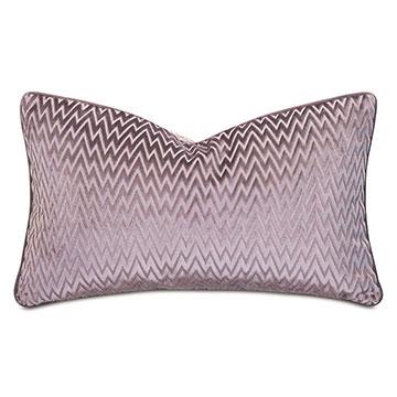 Evie Velvet Chevron Decorative Pillow