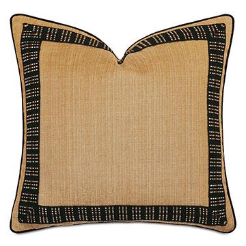 Lars Embroidered Border Decorative Pillow