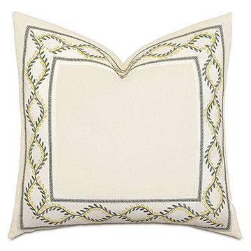 Marguerite Mitered Border Decorative Pillow