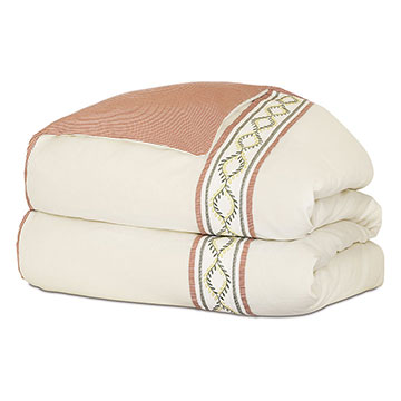 Marguerite Embroidered Tape Duvet Cover and Comforter