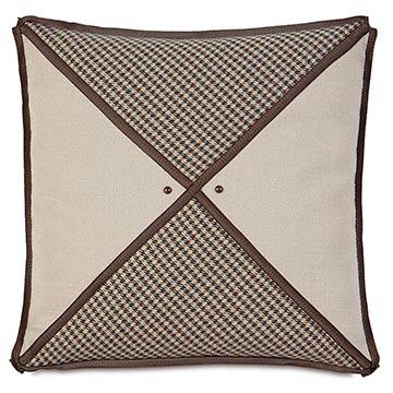 Aiden Houndstooth Insert Decorative Pillow