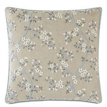 Amberlynn Embroidered Decorative Pillow