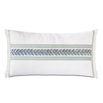 Amberlynn Horizontal Leaf Decorative Pillow