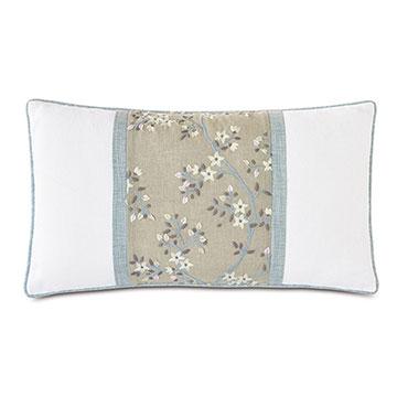 Amberlynn Embroidered Insert Decorative Pillow