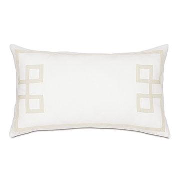 Resort Shell Fret Accent Pillow