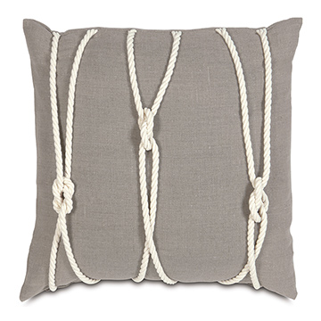 Isle Yacht Knots Decorative Pillow in Neutral