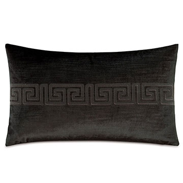 Antiquity Greek Key Decorative Pillow in Ebony