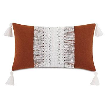 Palermo Tassel Decorative Pillow in Henna