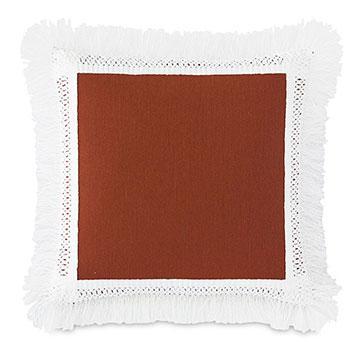 Palermo Fringe Decorative Pillow in Henna