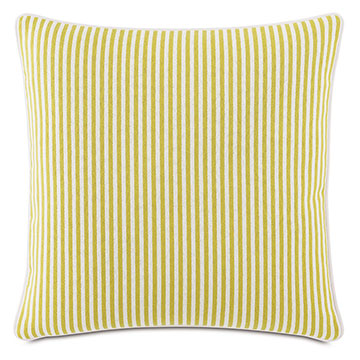 Villa Reversible Decorative Pillow in Lemon