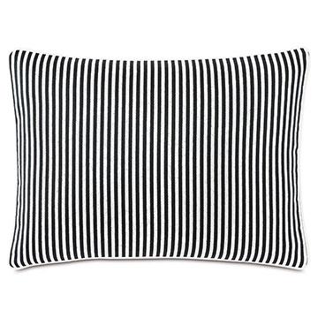 Villa Reversible Decorative Pillow in Black