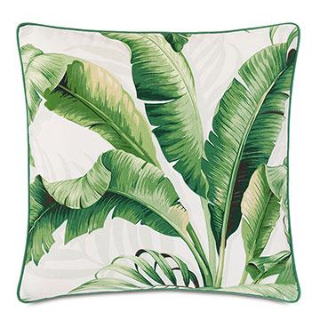 Abaca Banana Leaf Decorative Pillow in Cloud