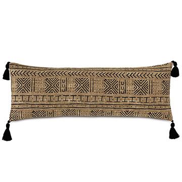 Seydou Tassel Decorative Pillow in Natural