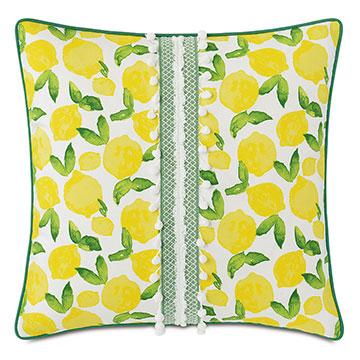 Knowles Ball Trim Decorative Pillow