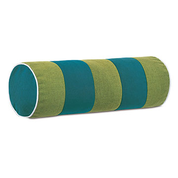 Plage Striped Bolster in Teal