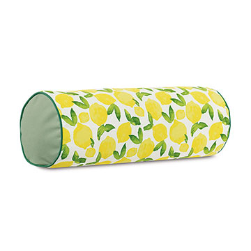 Knowles Lemon Print Bolster