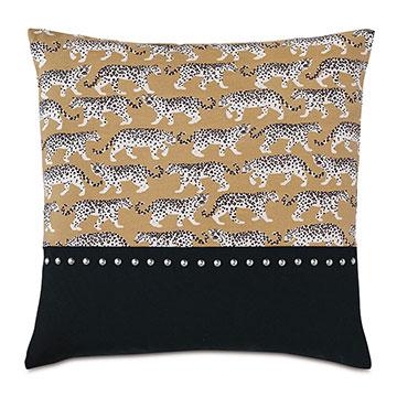 Prowling Nailhead Decorative Pillow