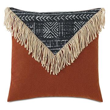 Seydou Color Block Decorative Pillow in Black