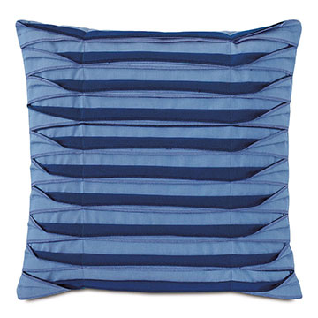 Plisse Pleated Decorative PIllow in Blue
