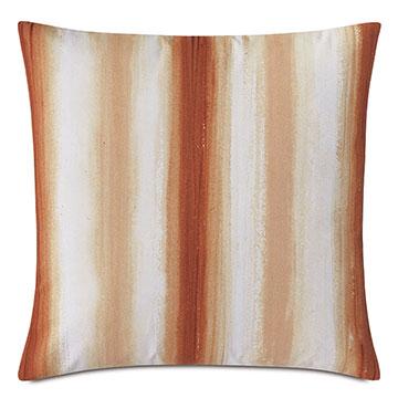 Talbot Handpainted Decorative Pillow in Orange