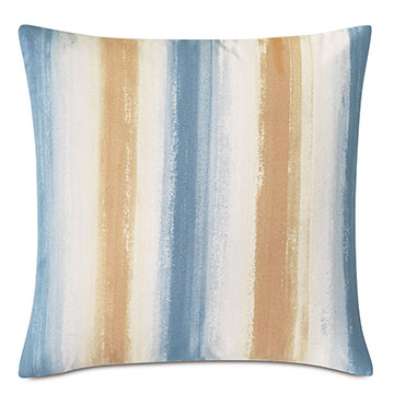 Talbot Handpainted Decorative Pillow in Blue