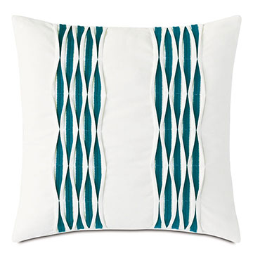 Tamaya Pintuck Decorative Pillow in Teal