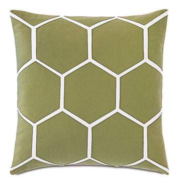 Tamaya Hexagon Decorative Pillow in Leaf