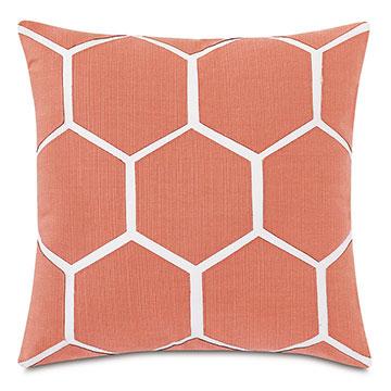 Tamaya Hexagon Decorative Pillow in Carnation