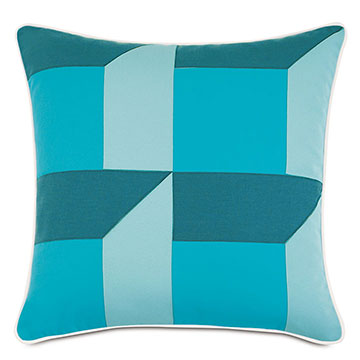 Plage Patchwork Decorative Pillow